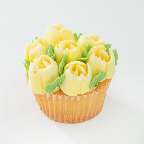 YELLOW FLOWER CAKE 6P
