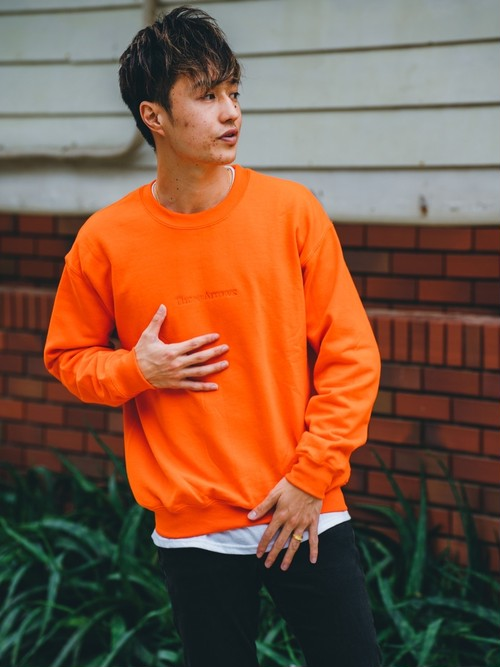 ThreeArrows刺繍SWEAT (orange)
