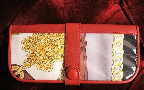 Vintage scarf Wallet / no,001