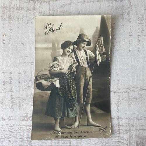 アンティーク Poisson d'Avril ポストカード   /  vp0212