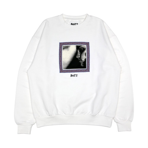 Taping Crew Neck(white)