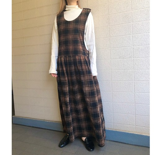 Vintage check jumper skirt