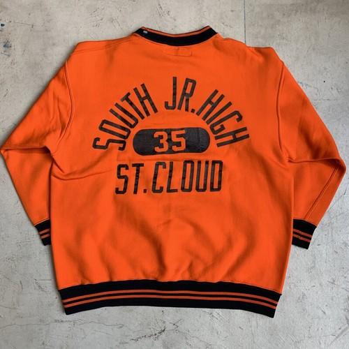 50's 60's Russell Southern ナイロンレーヨンシャツ 黒タグ 7分袖 バックプリント カプセル3段 オレンジ ブラック レア アスレチックウェア 美品 Lサイズ USA製 希少 ヴィンテージ  BA-1207 RM1576H