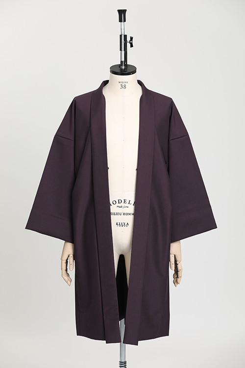 羽織 / Silk-wool / Purple(With tailoring)