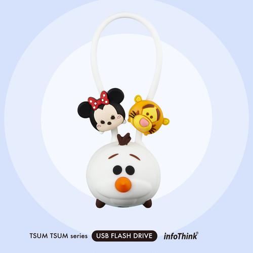 InfoThink USBメモリ Disney ディズニー ツムツム USBフラッシュドライブ 16GB オラフ