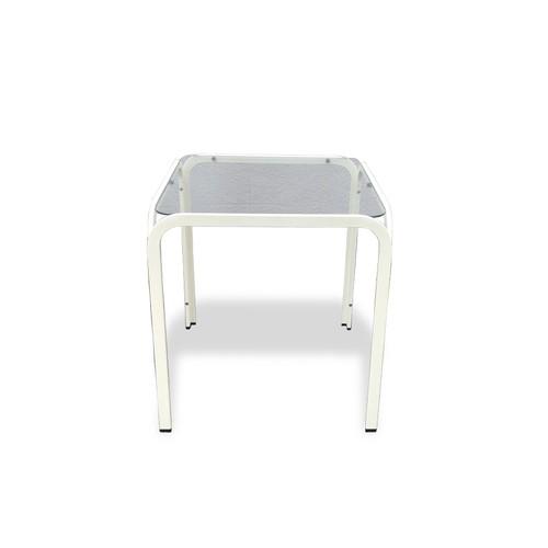 ■配送不可【レトロモダン ガラス天板テーブル】