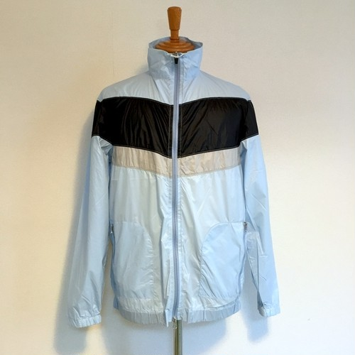 Pocketable Nylon Zip Blouson Blue