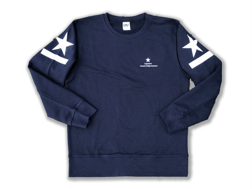 shoulder print sweat / navy
