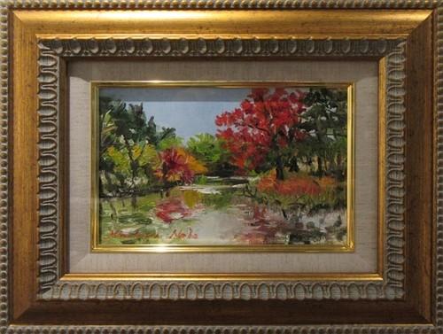 菖蒲池の紅葉