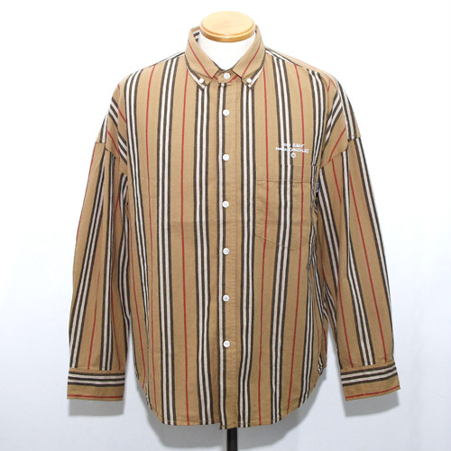 "【Mark Gonzales】""LOVE & HATE"" BD WIDE SHIRT (BROWN MULTI)"