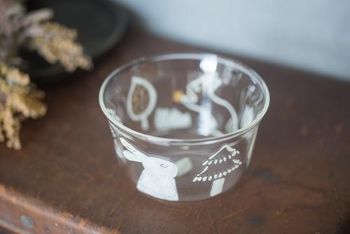 大家三佳 ガラスの器 「あしたキツネちゃんとデートするウサギ(ボウル 90ml)」 【om_0009】
