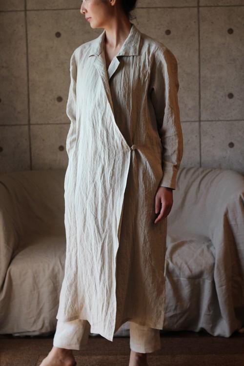 Linen shirt-coat (ecru) リネン シャツコート