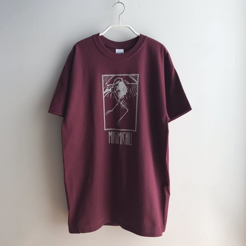 MUGAMICHILL ORIGINAL Bird T-Shirts DARK RED