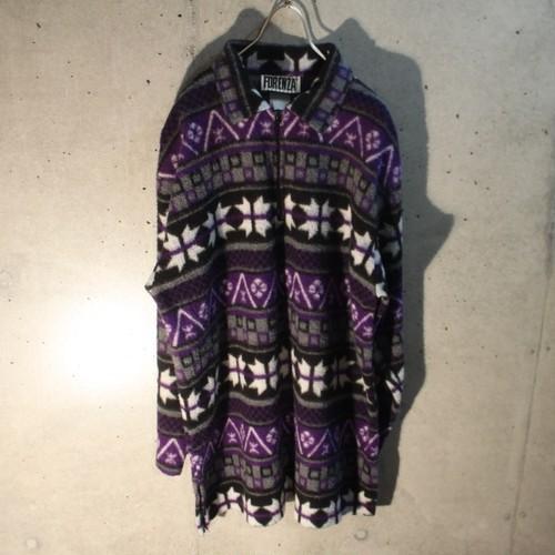 Zip Up Design Freeze Shirt