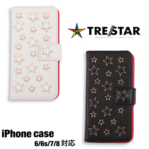 TRE☆STAR『トレスター』 iPhoneケース ホワイト/ブラック