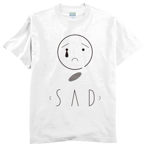 SAD tee men White