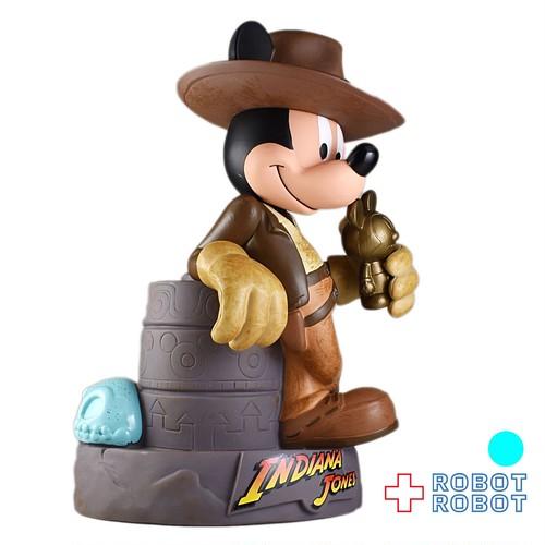 ミッキーマウス インディ・ジョーンズ ソフビ貯金箱 ディズニーパーク限定