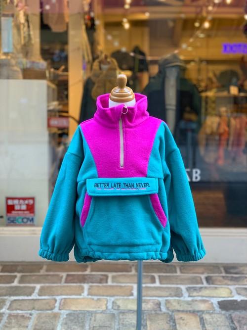 KIDS:NEEDLE WORKS【ニードルワークス】BIG Fieece Jacket(グリーン/90〜150cm)フリースジャケット