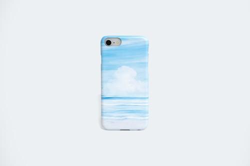 夏空と海を描いた、スマホケース