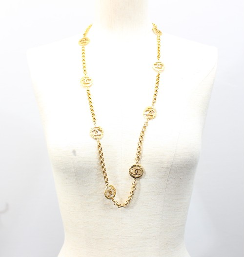 .CHANEL 2 8 COCO MARC GOLD NECKRACE MADE IN FRANCE/シャネルココマークゴールドネックレス 2000000029832