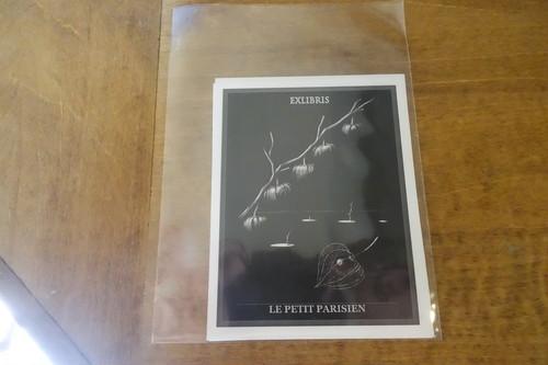 蔵書票 Hiromi Sato 鉛筆画 3枚セットA