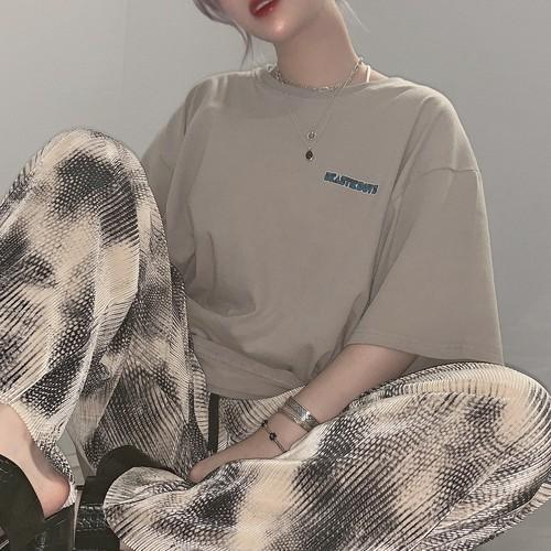 【即納】韓国ファッション ヴィンテージプリントTee