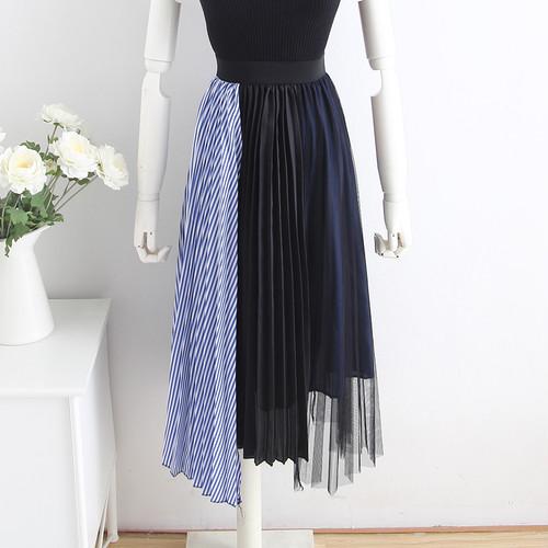プリーツストライプ スカート【0023】
