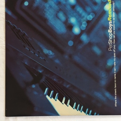 【12inch・英盤】Pet Shop Boys / Remixed  Where The Streets Have No Name (I Can't Take My Eyes Off You)