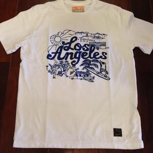 "SALTWATER COWBOY / ソルトウォーターカウボーイ | "" LosAngeles "" T-Shirts / White"
