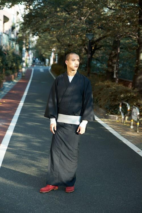 きもの / 十日町縞 / Black(With tailoring)
