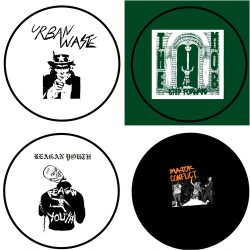 """Urban waste / The Mob / Reagan Youth / Major conflict - 1"""" pin button(バッジ)"""