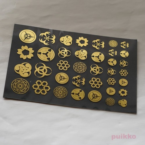 家紋・幾何学模様 箔押し レジン封入用フィルム