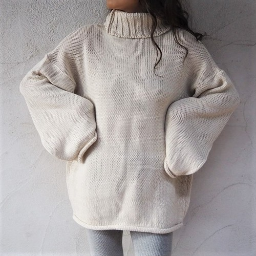 Turtle Wide Knit OP《OWHT/BLK》