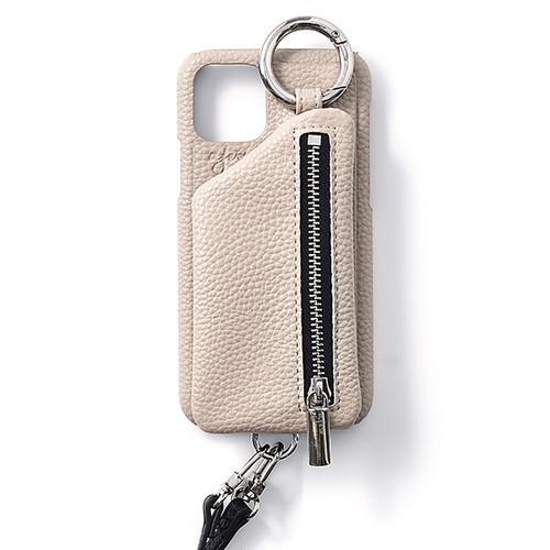 ajew  cadenas zipphone zase shoulder  BEIGE  iPhoneXsMax/11ProMax
