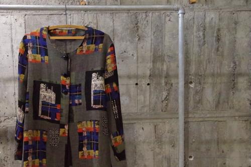 Design nocollar pattern shirt(USED)