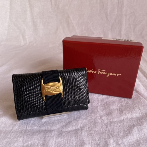 FERRAGAMO -Vara- Key Purse -Dead Stock!!-