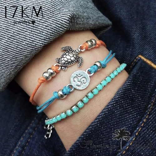 即納【FlamingoBeach】turtle bracelet set