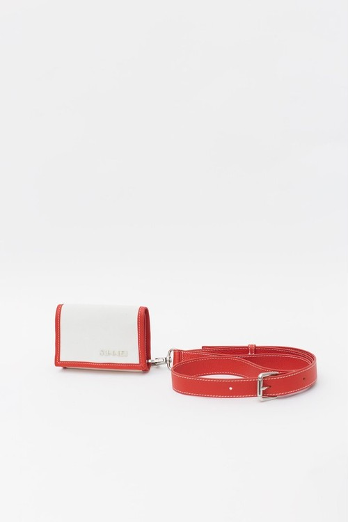 『SUNNEI』WALLET / IVORY&RED