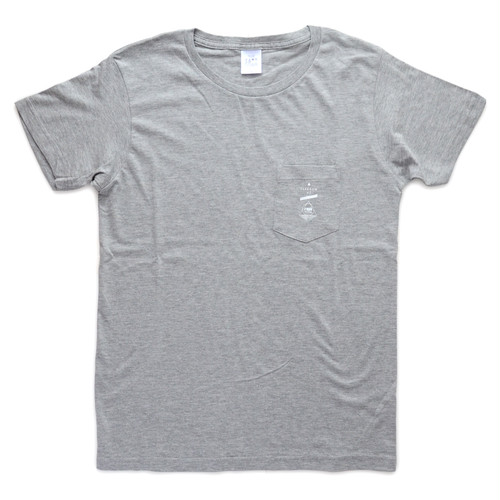 roph logo print pocket t-shirts Grey