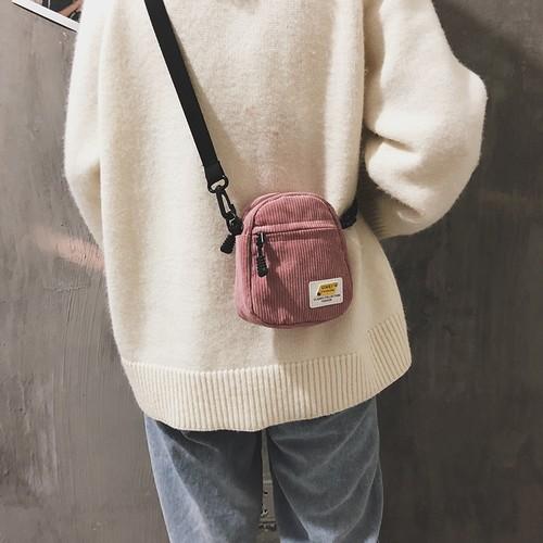 【送料無料】 秋っぽアイテム♡ コーデュロイ ショルダーバック サコッシュ かわいい ミニサイズ