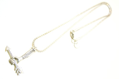 KTZ HAND WITH ARROW PENDANT NECKLACE ハンド ウィズ アロー ペンダント ネックレス / SILVER 60%OFF