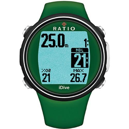 操作カンタン♪高輝度バックライトで見やすいRATIO iDive Sports   Military(Green)