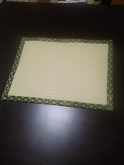 たたみランチョンマット若草色(耐水性)樹脂加工カラー表