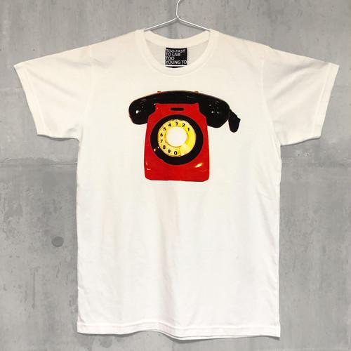 【送料無料】ROTARY DIAL PHONE / Men's T-shirts M 黒電話 / メンズ Tシャツ M