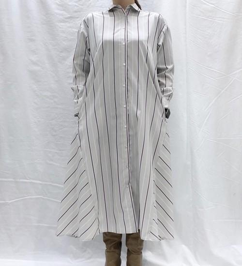 ストライプシャツワンピース【stripe shirt one-piece】