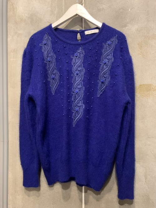 (TOYO) embroidery knit tops