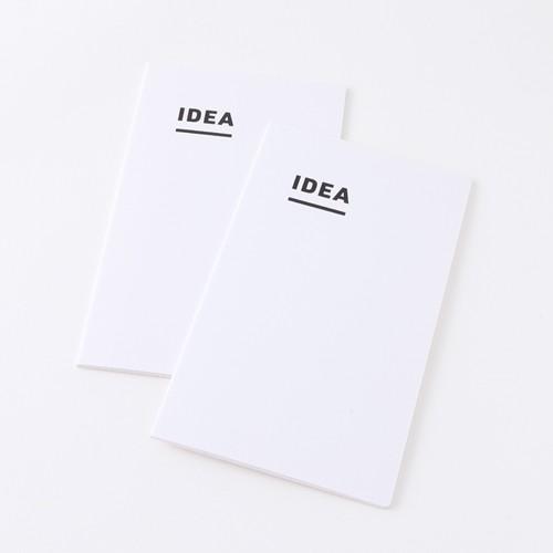 ジブン手帳用 mini IDEA (2冊パック) 3mm方眼 トモエリバー 52g/m2 ホワイト