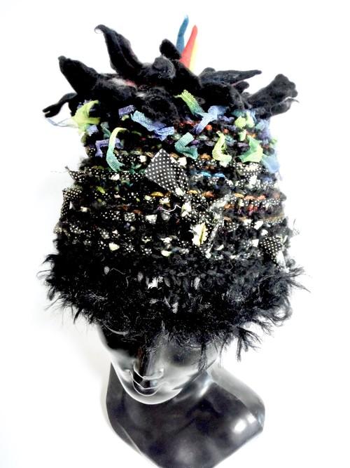 DEL-HITS×Cool Klotheseフェルトのお花のニット帽B