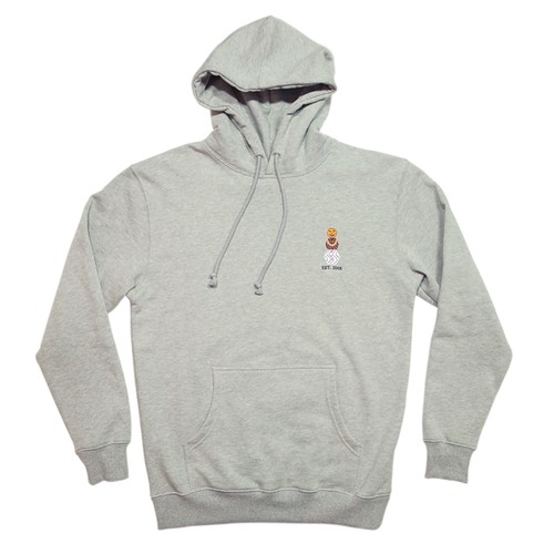 QUARTER SNACKS EMBROIDERED SNACKMAN HOODY Heather Gray