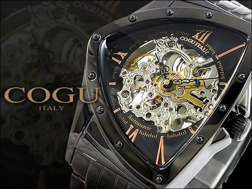 コグ COGU 流通限定モデル フルスケルトン 自動巻き 腕時計 BNT-BRG ブラック